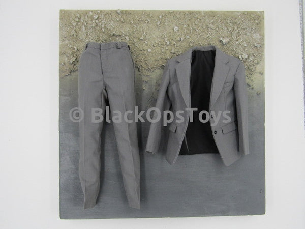 "Batman The Dark Knight ""The Joker"" Bank Robber Grey Suit Jacket and Pants"