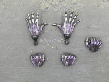 Alita Battle Angel - Purple & Silver Female Gloved Hands