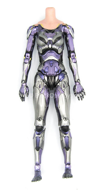 Alita Battle Angel - Female Body w/Silver & Purple Bodysuit