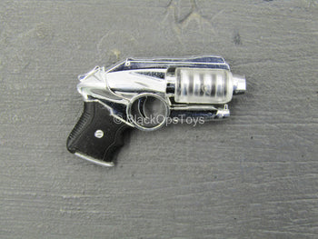 Silver Colored Futuristic Pistol