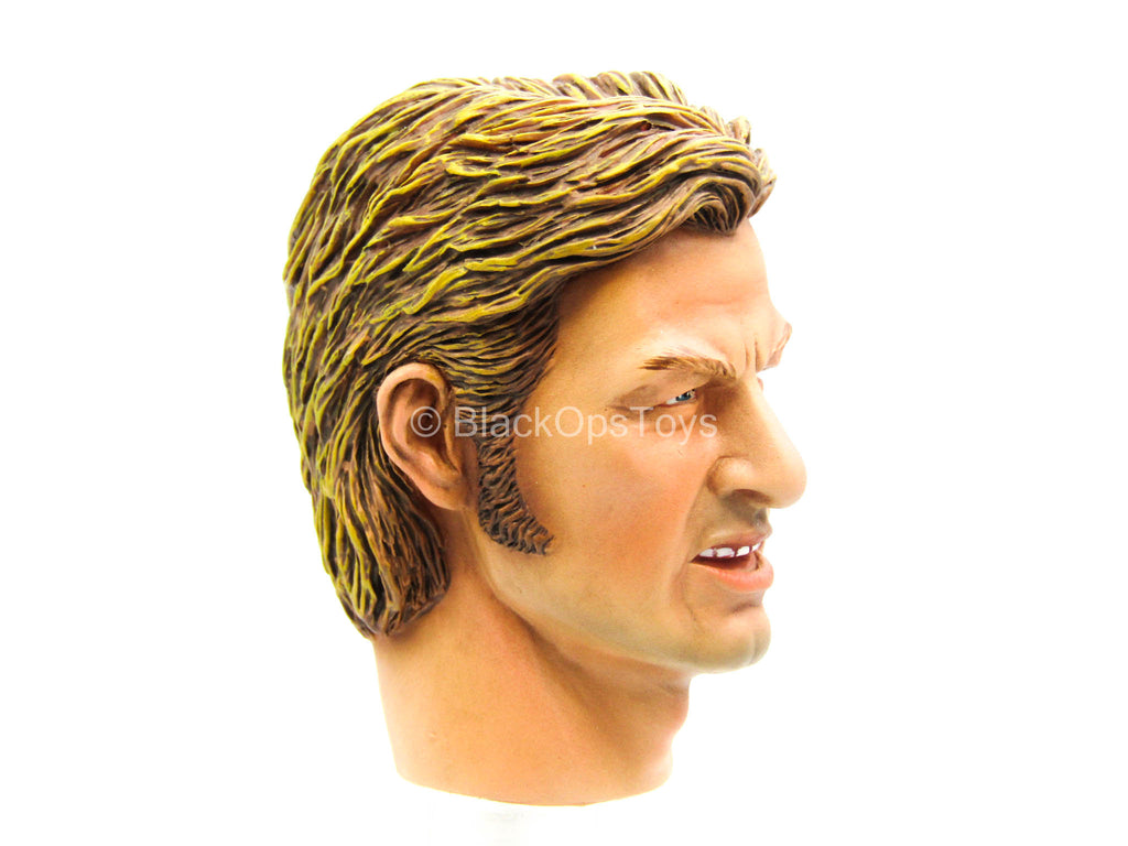 Caucasian Blonde Male Head Sculpt