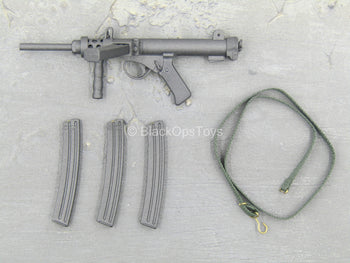 WWII - Sterling MK7A4 Carbine w/Dark Green Sling Set