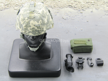 1st Cavalry Division SAW Gunner - ACU Helmet w/NVG Set