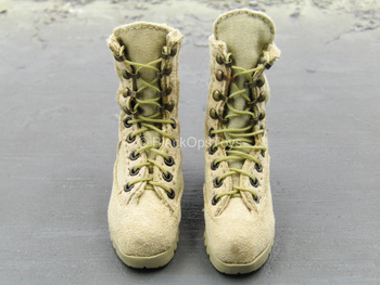 1st Cavalry Division SAW Gunner - Tan Combat Boots (Foot Type)