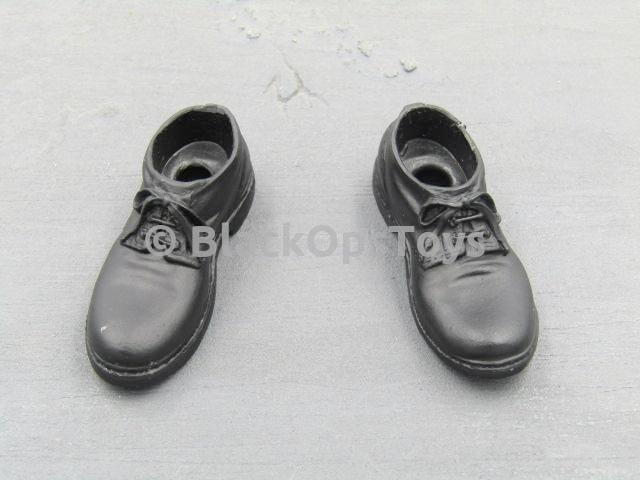 1/6 Scale Leon Kennedy Resident Evil Black Dress Shoes Peg Type