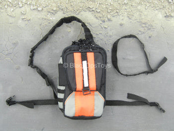 Quarantine Zone Agent - Black & Orange Backpack