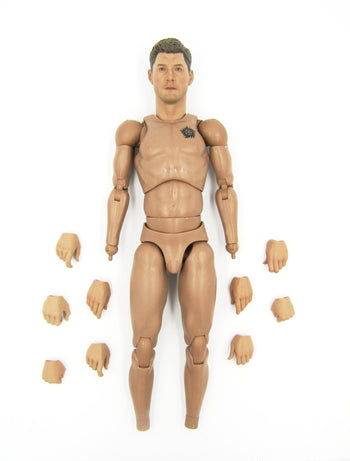 Supernatural Dean Winchester Complete Male Tattoo Base Body w/Head Sculpt & Extra Hands