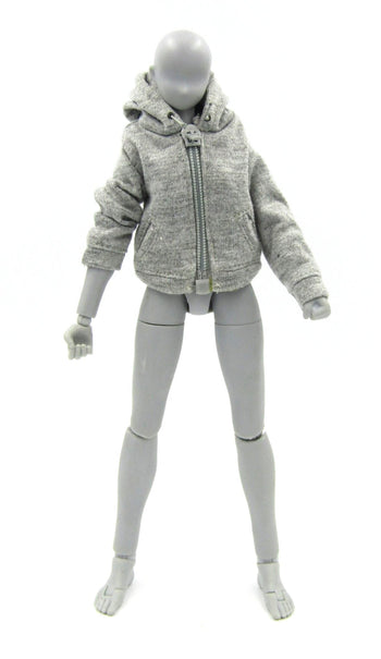 PMC Babe - Female Gray Zip Up Hoodie