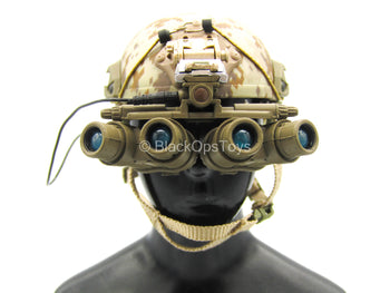 US Seal Team 3 Horsemen - Desert Digital Camo Helmet w/LED NVG