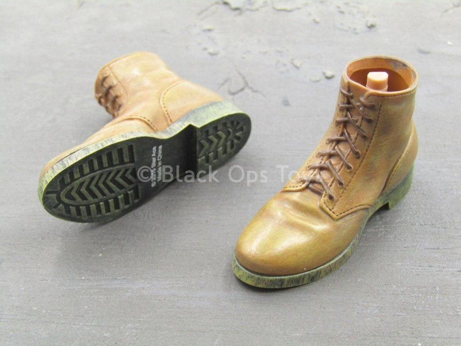 The Great Escape - Steve McQueen - Brown Boots (Peg Type)