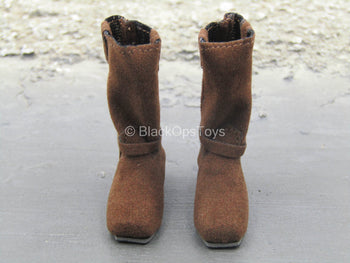 Female Brown Boots (Foot Type)