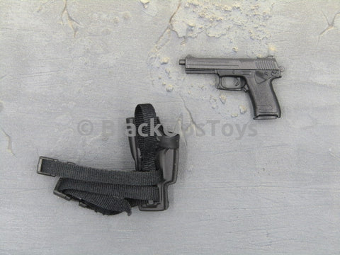 HK 45 Pistol with Drop Leg Holster