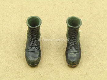 1/12 - Vietnam - US Infantry - Black & Green Boots (Peg Type)