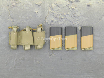 US Seal Team 3 Horsemen - Triple Cell 7.62 Magazine Pouch w/Magazines