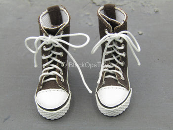 Brown Converse Shoes (Foot Type)