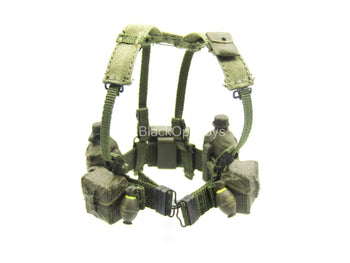 1/12 - Vietnam - US Infantry - OD Green Harness w/Pouch Set