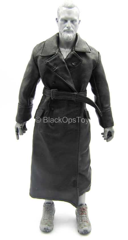 Infernal Clockwork Men - Black Leather-Like Trench Coat