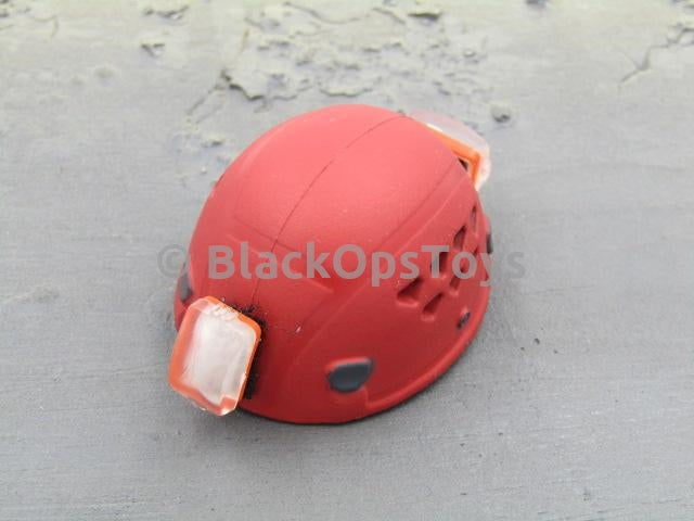 21st Century Search & Rescue Red Mountain Climbing Helmet w/Strobe Lights