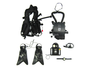 Navy Seal UDT - Black Diving Gear Set