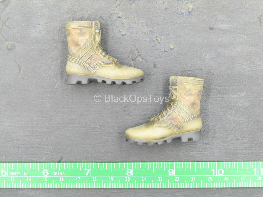 101st Airborne Division - Jennifer - Tan Combat Boots (Foot Type)