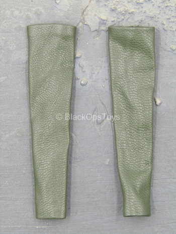 Green Leather-Like Arm Sleeves