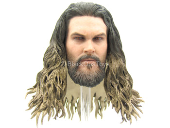 Aquaman - Male Head Sculpt In Jason Momoa Likeness Type 2