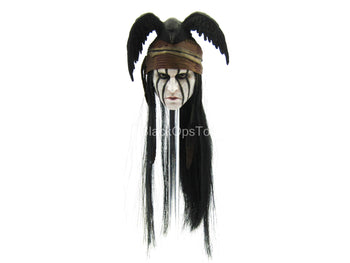 Lone Ranger - Tonto - Male Face Painted Head Sculpt w/Crow