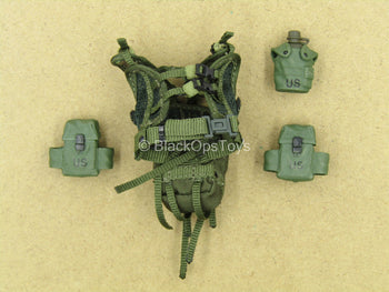 1/12 - Delta Force - Marksman - OD Green Vest w/Pouches
