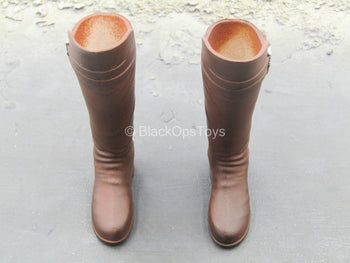 GOT - The Smuggler - Brown High Boots (Peg Type)
