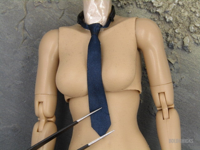 Gangsters Kingdom Female Police A. Lewis Navy Blue Neck Tie