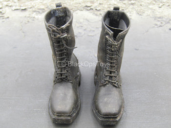 Vietnam - Adventure Kartel - Black Weathered Boots (Peg Type)