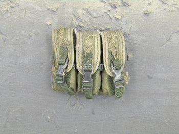 Vietnam - Adventure Kartel - Green Weathered Triple Cell Mag Pouch