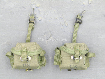 Platoon - Sargent Barnes - OD Green Ammo Pouch (x2)