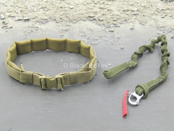 DEVGRU Gold Team - Coyote Tan Padded Belt w/Retention Lanyard