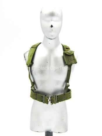 Platoon - Sargent Barnes - OD Green H-Harness w/Rivet Belt