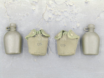 Platoon - Sargent Barnes - Canteen w/OD Green Pouch (x2)