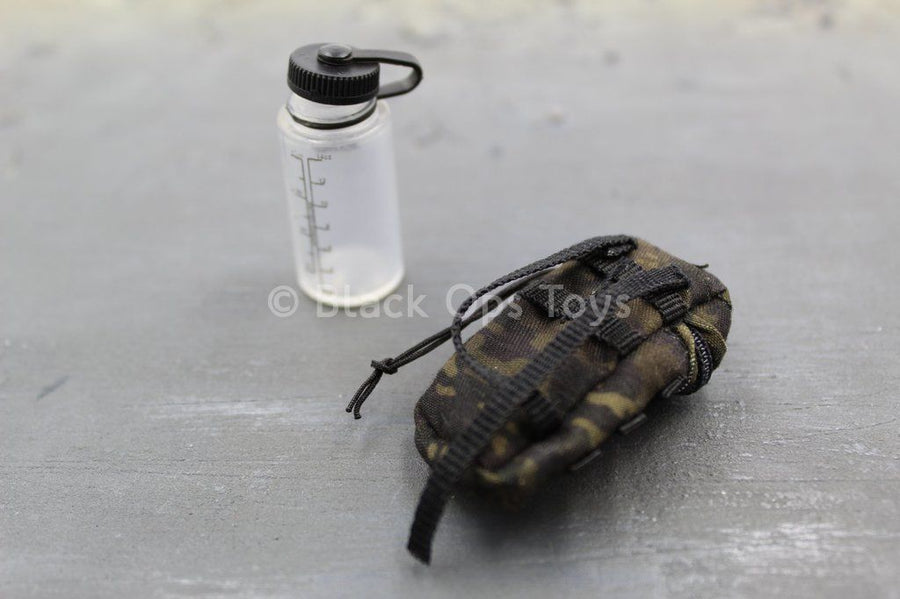 U.S Navy Seal - Water Bottle & Black Multicam Pouch
