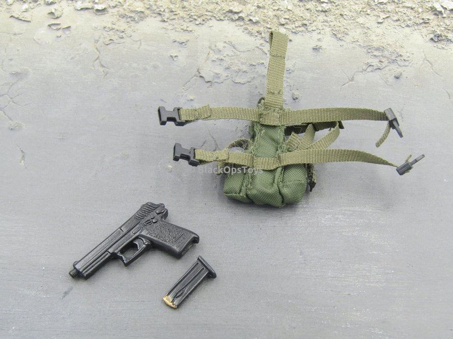 British SAS HALO - REAL METAL Pistol w/Drop Leg Holster