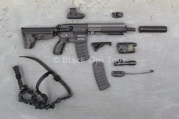 U.S Navy Seal - Black HK 416 w/Extendable Stock & Accessory Set