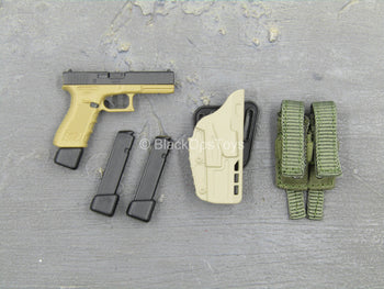 Urban Operation PMC - 9mm Pistol w/Green MOLLE Dual Cell Pouch