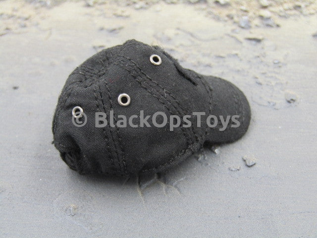 Female Tactical Shooter Black Baseball Cap with Velcro Panel