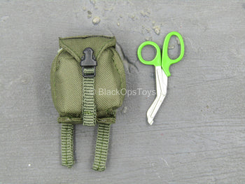 Urban Operation PMC - Green MOLLE IFAK Pouch w/Green Medical Shears