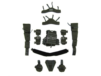 Heavy Breacher - Black Plate Carrier Vest & Pouch Set