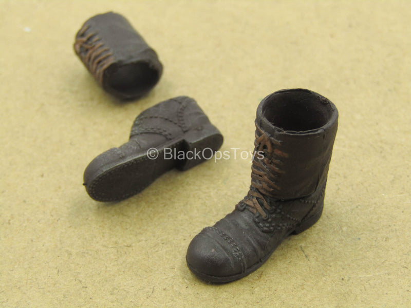 1/12 - WWII - Rescue Team - Brown Boots (Peg Type)