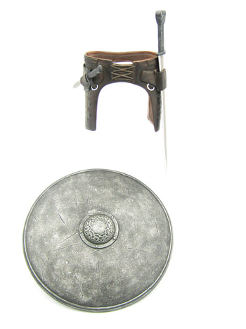 300 - Themistokles - Leather Like Belt w/Sword & Shield Set