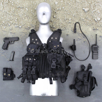 French GIGN - Black Chest Rig & Accessory Set