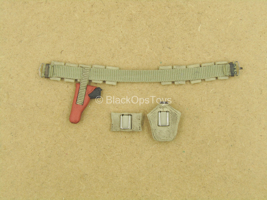 1/12 - WWII - Rescue Team - Utility Belt w/1911 Molded Pistol In Holster