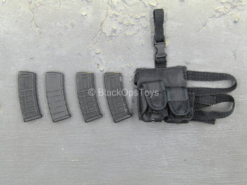Private Military Contractor - 5.56 Magazines w/Drop Leg Mag Pouch
