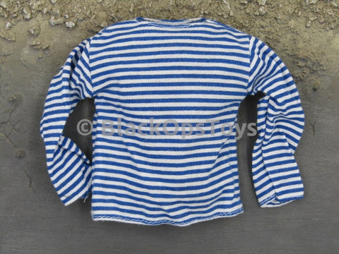 21st Century Russian Blue & White Striped Shirt
