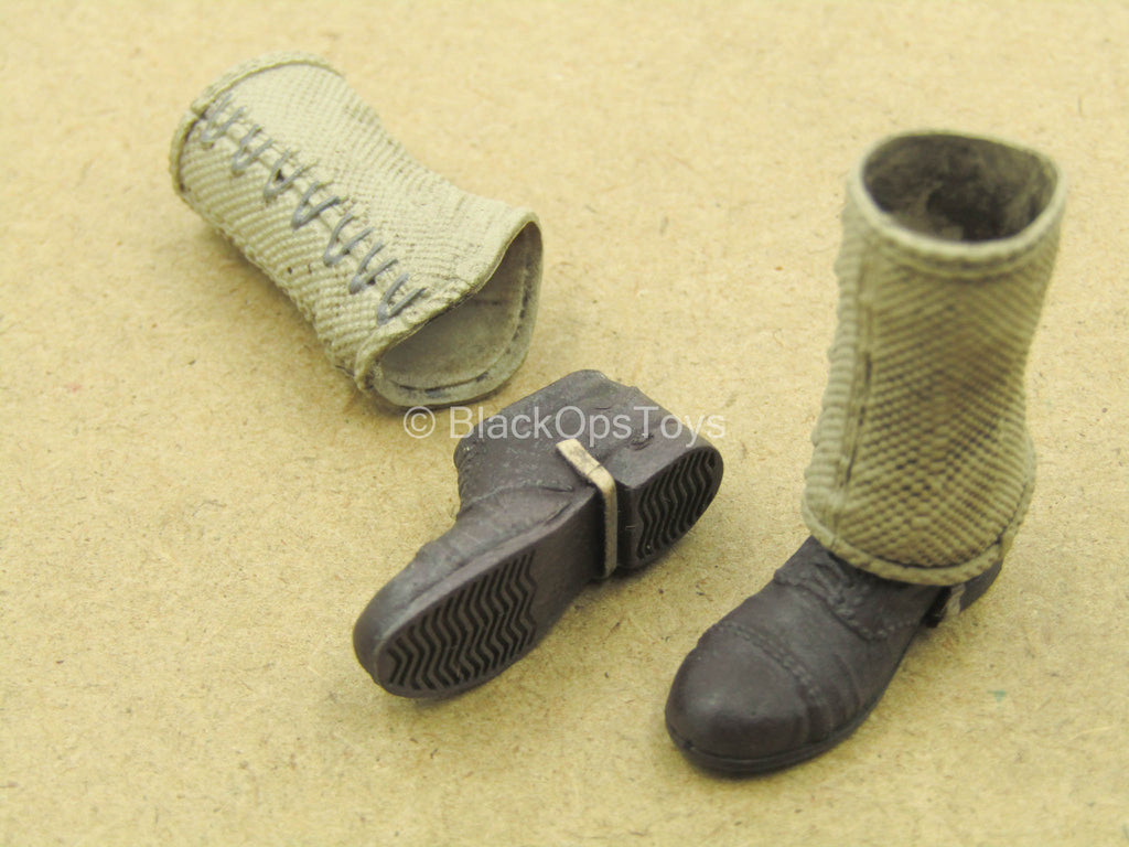 1/12 - WWII - Rescue Team - Boots w/Gaiters (Peg Type)